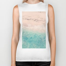 Aerial sea photography, exotic beach, fine art, wanderlust, coral reef, tropical landscape, summer Biker Tank
