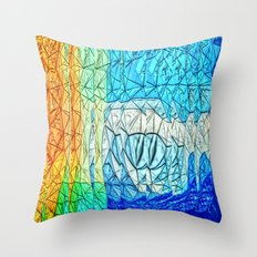 Creature from the Deep 2 Throw Pillow