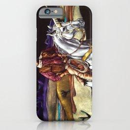 Black Velvet John Wayne Riding a Unicorn iPhone Case