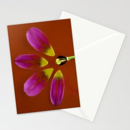 deconstructed tulip Stationery Cards
