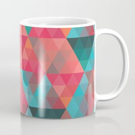 Abstract Geometric Pattern colorful triangles abstract art Coffee Mug