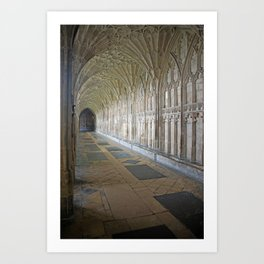 Cloister in Gloucester Cathedral Art Print