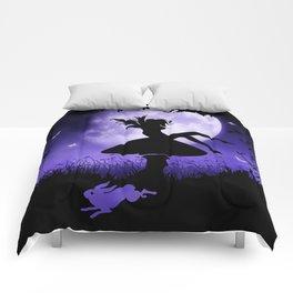 fairy in the moonlight Comforters