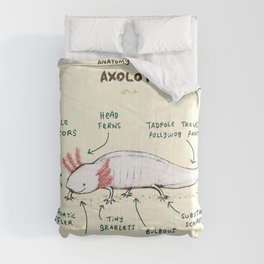 Anatomy of an Axolotl Comforters