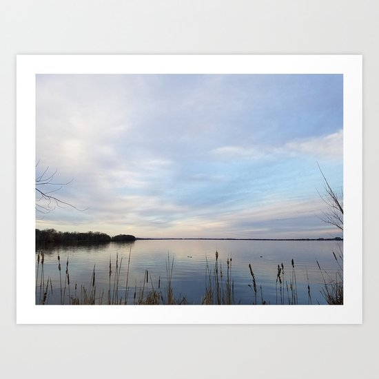 Twilight Serenity - Clouds and reflections on University Bay Art Print