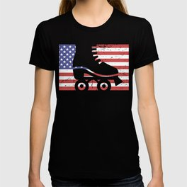 United States Flag & Roller Skating T-shirt