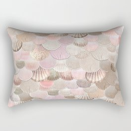MERMAID SHELLS - CORAL ROSEGOLD Rectangular Pillow