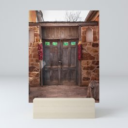 Doorway and Ristras in Lincoln, NM. Mini Art Print