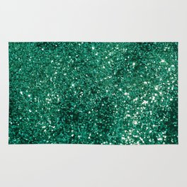 Sparkling EMERALD Lady Glitter #1 #shiny #decor #art #society6 Rug