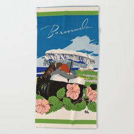 Romantic Bermuda travel Beach Towel