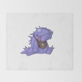 Cute Plush Dino Throw Blanket