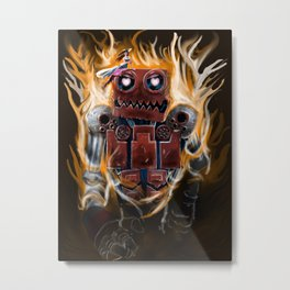 The Lady and The Robot Metal Print
