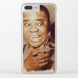 Louis Armstrong, Music Legend Clear iPhone Case