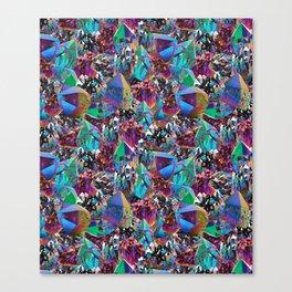 Oil Sick Rainbow Aura Crystals Canvas Print