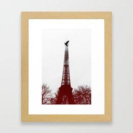 Bird on the tower Framed Art Print
