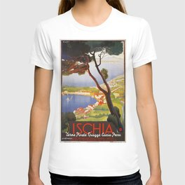 Ischia Island Italy summer travel ad T-shirt