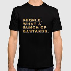 Bastards Black Mens Fitted Tee LARGE