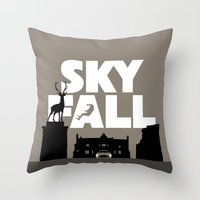 skyfall Throw Pillows featuring SKYFALL by Vector Vectoria