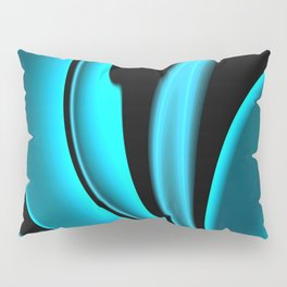 Abstract Fractal Colorways 02 Pacific Blue Pillow Sham