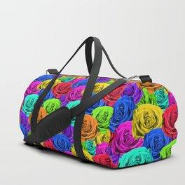 Rainbow Roses Duffle Bag