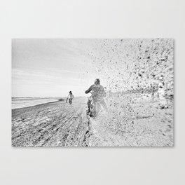 Beach racing 18396 Canvas Print