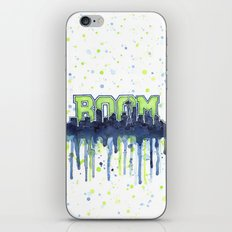 Seattle 12th Man Seahawks Painting Legion of Boom Art iPhone & iPod Skin
