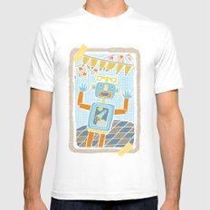 party robot Mens Fitted Tee White MEDIUM