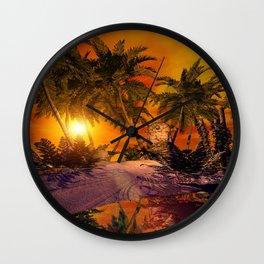 The little island Wall Clock