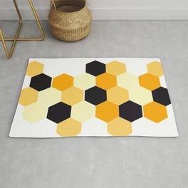 Hexagons,honeycomb ,geometric shapes decor Rug