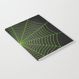Neon green spider web Notebook