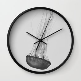 Black & White Jellyfish Wall Clock
