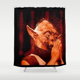 DalaiYOda - RED Shower Curtain
