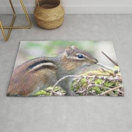 Watercolor Eastern Chipmunk 01, Swallow Falls, Maryland, Picnic Robber Rug