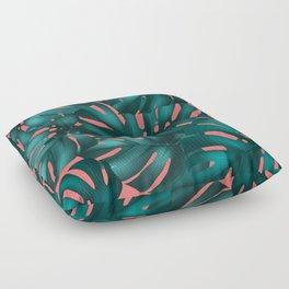 monstera leaves 2 Floor Pillow