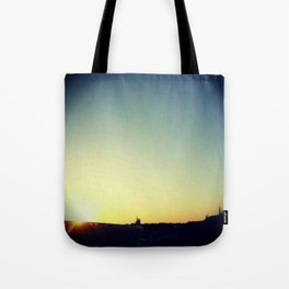 Monorail at Sunset Tote Bag
