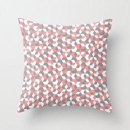 Hexagon(pink) #1 Throw Pillow