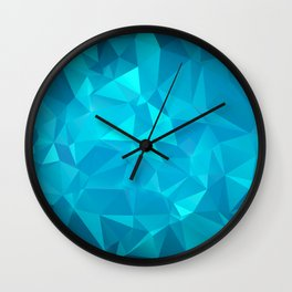 Blue Polygonal Mosaic Wall Clock