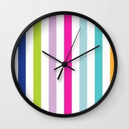 Big Bright Stripes Wall Clock