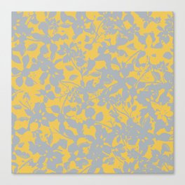 Sunshine Yellow - Broken but Flourishing Floral Pattern Canvas Print