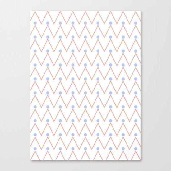 Chevron and dots 2 Canvas Print
