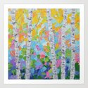 Dancing Birch Trees No. 2 by annmariecoolick