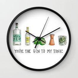 Gin to My Tonic Wall Clock
