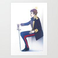 enerjax Art Prints featuring Benedict Cumberbatch - Hamlet by enerjax