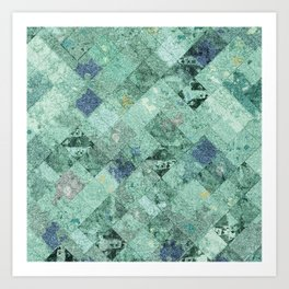 Abstract Geometric Background #31 Art Print