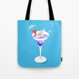 Arctic Fox in Cocktail Tote Bag