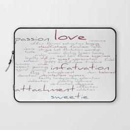 Love Word Cloud Laptop Sleeve