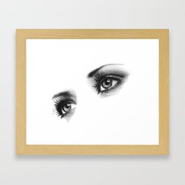 Female Eyes Framed Art Print