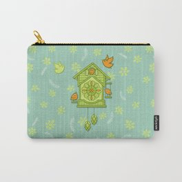 Cuckoo Time green Carry-All Pouch