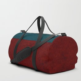 Blue and orange suede Duffle Bag
