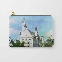 Neuschwanstein castle in watercolor Carry-All Pouch